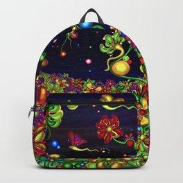 Fantasy valley naive artwork Backpack