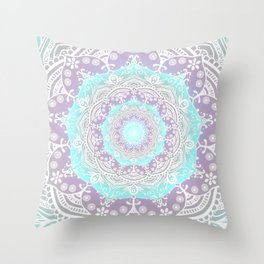 Mandala Heaven Spiritual Zen Bohemian Hippie Yoga Mantra Meditation Throw Pillow