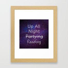Up All Night Purple Framed Art Print