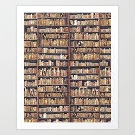 Books, books, books Art Print