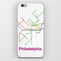 Philadelphia Transit Map iPhone & iPod Skin