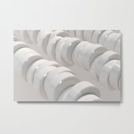 Pattern of white cylinders Metal Print