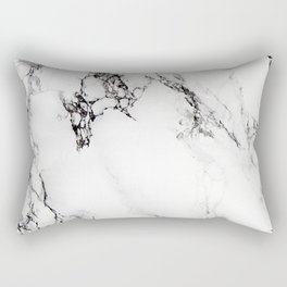 Classic white faux marble Rectangular Pillow