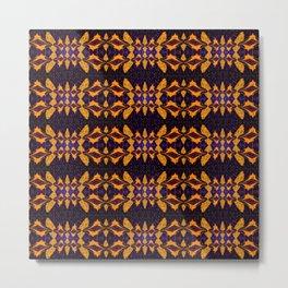 Divine Signature Geometric Pattern 2 Gold Metal Print