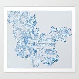 Narrowboating Art Print