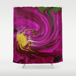 Pink Floral Swirl Shower Curtain