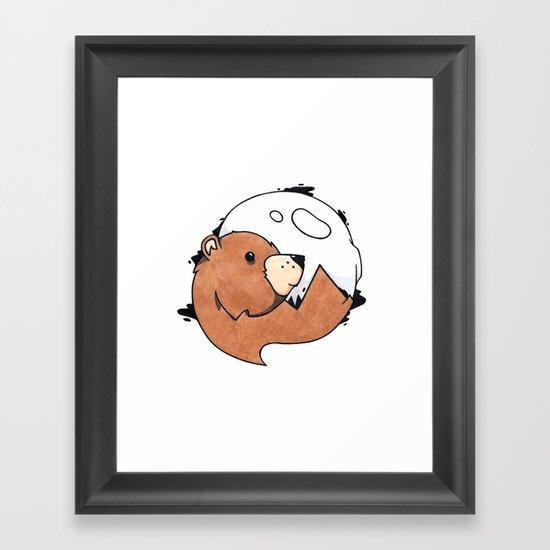 Moonbear Framed Art Print