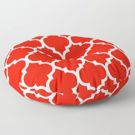 MOROCCAN RED AND WHITE PATTERN Floor Pillow