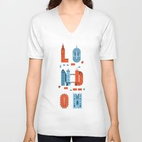 london V-neck T-shirts featuring London by Wharton