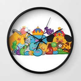 Slime Family Wall Clock
