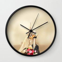 crane wedding Wall Clock