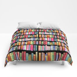 Vintage Book Library for Bibliophile Comforters
