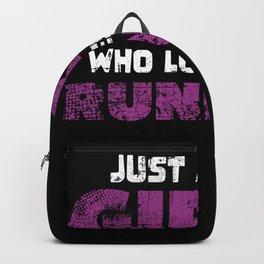 Running Marathon Runners Girl Backpack