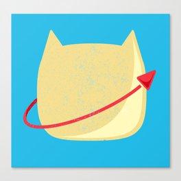 CatStronaut Emblem Canvas Print