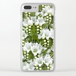 White petals like Snowflakes by Reay of Light Clear iPhone Case
