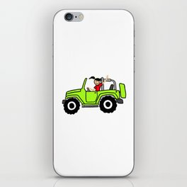 Jeep Wave Girl - Side View - Lime Green iPhone Skin