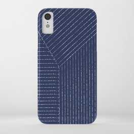 Lines / Navy iPhone Case