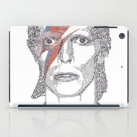bowie iPad Cases featuring Bowie by S. L. Fina