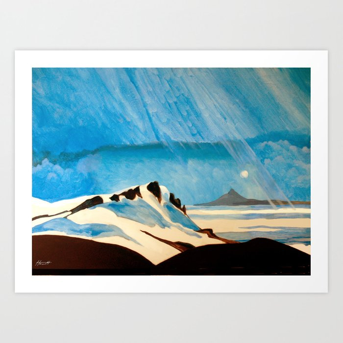 """Shining Down Like Water"" - Mount Taranaki Art Print"