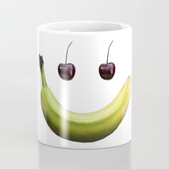 Funny real fruit smiley face Coffee Mug