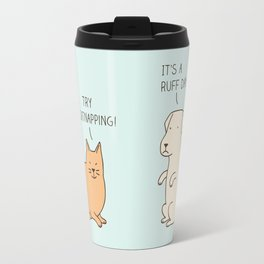 encouraging cat Travel Mug