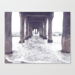 dreaming at the pier Canvas Print