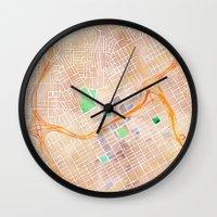 alabama Wall Clocks featuring Birmingham, Alabama by Emily Day