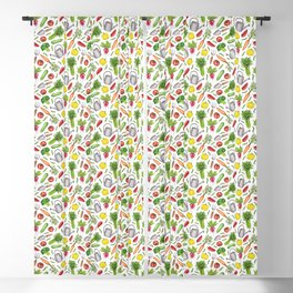 Summer Vegetable Garden Blackout Curtain