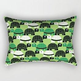 Turtle Pattern (Green/Black) Rectangular Pillow