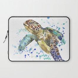 Sea Turtle Pura Vida Watercolor Laptop Sleeve