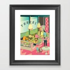 eating at johnny´s Framed Art Print