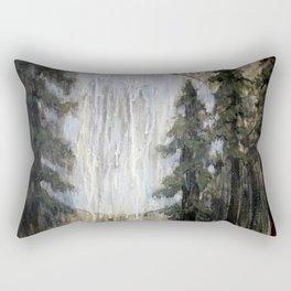 Moonlight through the Redwoods Rectangular Pillow