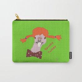 Spunky Turkey Orange Hair GB TX Carry-All Pouch