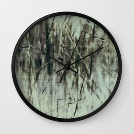 Emerald grass ~ Abstract Wall Clock