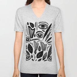 Eye Harp Leaves Unisex V-Neck