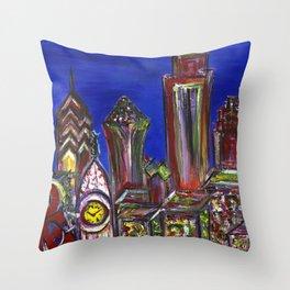 Philly Skyline LOVE Throw Pillow