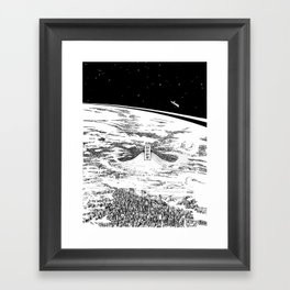 Space upon us Framed Art Print