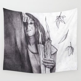 Eyes As Candles Wall Tapestry