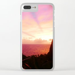 St Lucian Sunset Clear iPhone Case
