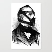 bdsm Canvas Prints featuring BDSM XXXX by DIVIDUS