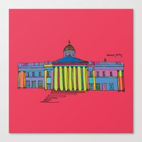 the national Canvas Prints featuring National gallery by PINT GRAPHICS