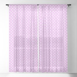 Tiny Paw Prints Pretty Pink Pattern Sheer Curtain