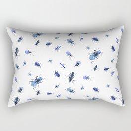 Blue bugs Rectangular Pillow