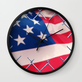 Illegal immigration concept Wall Clock