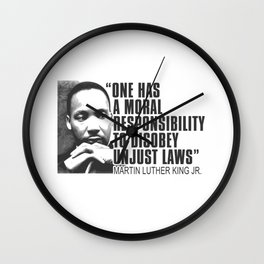 Martin Luther King Jr Day MLK Quote Wall Clock