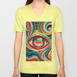 """""""Eye love you too"""" by Audreana Cary & Adam France Unisex V-Neck"""