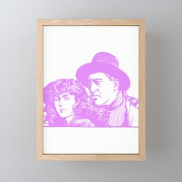 Abstract Couple Framed Mini Art Print