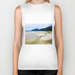 able tasman natural reserve sand low tide walk panorama Biker Tank