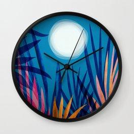 Tropical Moon / Tropical Night Series #5 Wall Clock