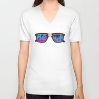 nerd V-neck T-shirts featuring Nerd by Aaron Synaptyx Fimister
